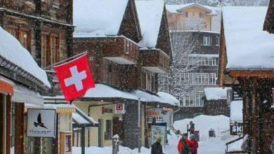 تصویر روستای زیبا و دیدنی مورن در سوئیس