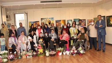 تصویر جشن گشایش نمایشگاه نقاشی رویش