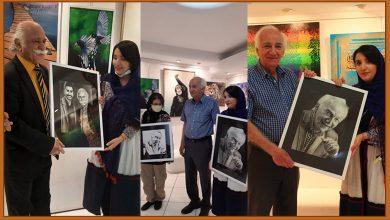 تصویر آیین گشایش نمایشگاه نقاشی معجزه رنگ